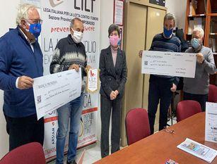 """Contributo Ugaf all'associazione provinciale di Campobasso della Lilt Consegnato l'assegno di settecentocinquanta euro"""""""