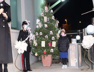 """Carabinieri Larino: si accende """"l'albero della cultura alla legalità"""" L'iniziativa nasce dai ragazzi delle scuole frentane"""