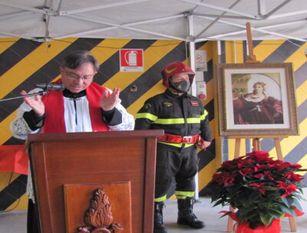 La cerimonia di Santa Barbara nella caserma dei Vigili del Fuoco a Isernia