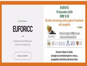 """Il sindaco di Campobasso parteciperà alla tavola rotonda """"Foreste Urbane in Italia"""" promossa da EUFORICC"""