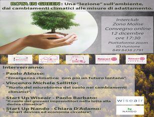 """Interclub zona Molise, i Rotaract insieme per una """"lezione"""" sull'ambiente e la Green Guide"""