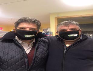 Consegnata dal Presidente Cimino la prima mascherina stilizzata dell'O.d.G. Realizzate dalla ditta Exit Creative