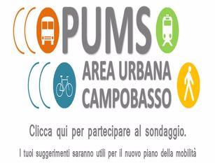 Un questionario online per conoscere le opinioni e i bisogni dei cittadini in vista del nuovo PUMS dell'Area Urbana di Campobasso