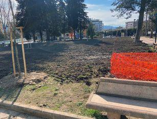 Lavori di riqualificazione della villa comunale di Isernia Chiacchiari: «sarà bella ed accogliente come il parco della stazione»