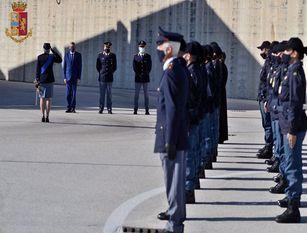 Cerimonia per l'anniversario della Fondazione della Polizia di Stato a Campobasso
