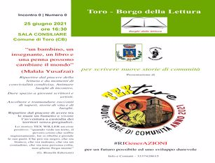 """Toro (Cb)  entra nei """"Borghi della Lettura"""""""