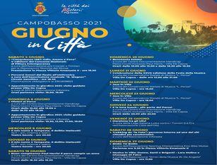 Con Giugno in Città, torna il calendario degli eventi in presenza a Campobasso