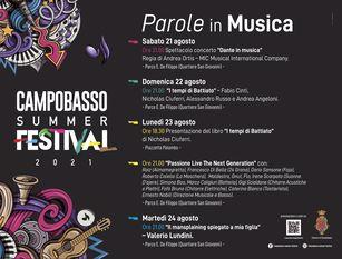 """Con """"Dante in Musica"""" di Andrea Ortis si apre sabato 21 agosto il Campobasso Summer Festival"""