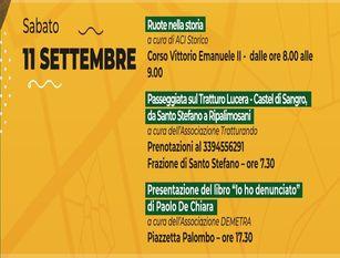 Settembre in Città: gli eventi in programma sabato 11 settembre