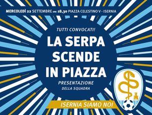 Calcio, domani a Isernia si presenta il Città di Isernia S.leucio Tutti in piazza Celestino V dalle 18.30 in poi