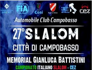 """Domenica 19 maggio si disputerà il """"27° Slalom Città di Campobasso – Memorial Gianluca Battistini""""  a Campobasso Interesserà il tratto compreso tra il bivio di Mirabello Sannitico ed il ristorante """"Il Ritrovo"""" di Campobasso"""