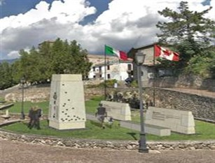 I Canadesi dopo 75 anni tornano ad Aquino e donano un Monumento in memoria del sacrificio dei loro uomini.