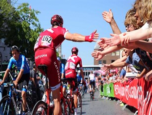 Il Giro d'Italia  di passaggio a Isernia