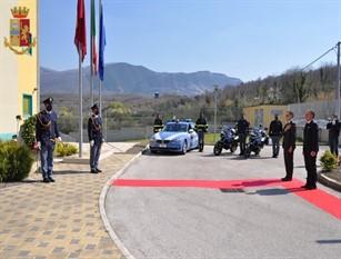 Isernia: 168° Anniversario della Fondazione della Polizia di Stato. Deposizione corona.