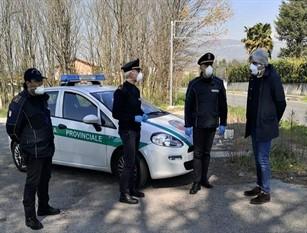 Emergenza Covid-19: la Polizia provinciale supera il numero dei duemila controlli Pompeo e Caperna: presidio importante sul territorio insieme a tutte le forze dell'ordine impegnate