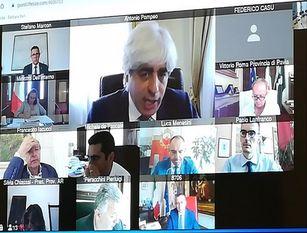 Riforma Del Testo Unico degli Enti Locali: il Presidente Pompeo in videoconferenza con il Ministro Dell'interno Lamorgese e il Sottosegretario Variati