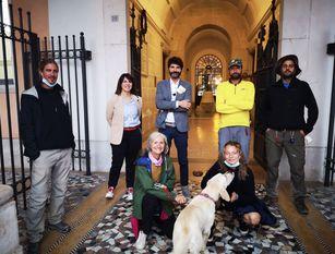 """I primi camminatori de """"La via del tratturo"""" giunti al termine del viaggio a Campobasso"""