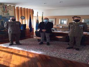 """Provincia Is, Ricci incontra i vertici del Comando militare Esercito """"Abruzzo Molise"""""""