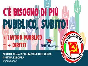 C\S ROMA, Rifondazione Comunista chiede il potenziamento ed il rilancio del settore Pubblico