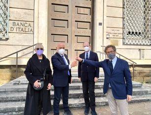 Frosinone, l'ex Banca d'Italia diventa palazzo comunale.