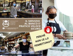 """Fipe Confcommercio Molise: """"perche' penalizzare il consumo al banco?"""""""