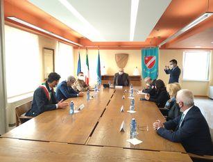 Il sindaco Gravina ha incontrato il generale Figliuolo e il dottor Curcio in visita a Campobasso