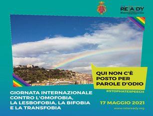 Campobasso aderisce alla Giornata Internazionale contro l'omofobia, la lesbofobia, la transfobia e la bifobia