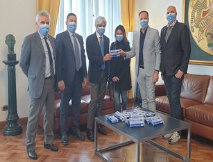 La Provincia di Frosinone dona 150.000 mascherine agli studenti del territorio