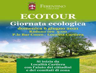 Ferentino: domenica 6 giugno la prima tappa dell'Ecotour 2021 Il sindaco Pompeo e l'assessore Di Marco: un'altra iniziativa della nostra Amministrazione in tema di ecosostenibilità e rispetto per l'ambiente