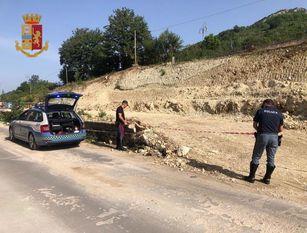 Frana di Castelpizzuto: nuovo sequestro della Polizia Stradale.