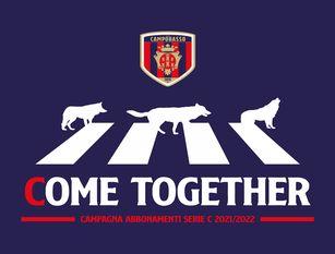 'Come Together': la campagna abbonamenti 2021/22 Start dal 13 luglio. Inizialmente gli abbonamenti disponibili saranno 900 e verrà data prelazione ai vecchi abbonati.