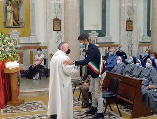 Il sindaco Gravina ha partecipato alla celebrazione eucaristica e alla consueta accensione della lampada votiva in onore di San Francesco d'Assisi