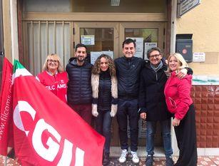 Attacchi alla Cgil, solidarietà dal candidato Sindaco di Isernia Castrataro nella sede pentra del Sindacato