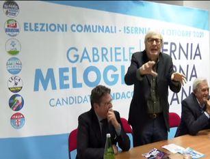 Melogli: con me sindaco,  Vittorio  Sgarbi sarà nominato  responsabile dell'Auditorium A colpi di appuntamenti e polemiche politiche, prosegue  la  sfida per il ballottaggio a Sindaco di Isernia